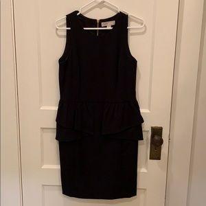 Michael Kors Black Peplum Sleeveless Dress